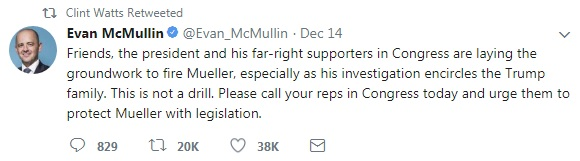 clint re-tweet on Mueller